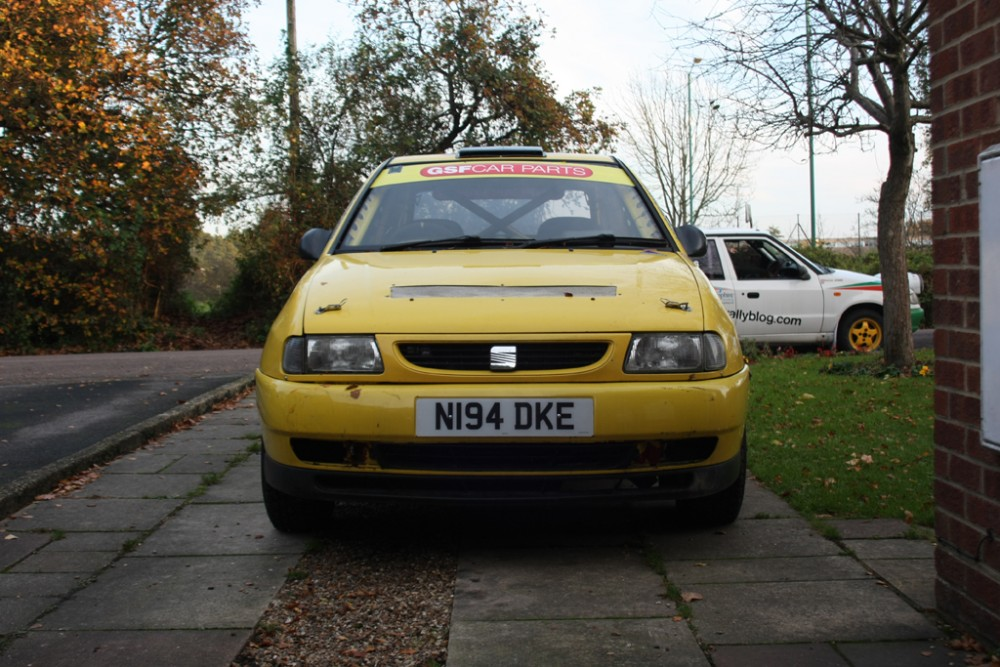 New and old rally cars together...