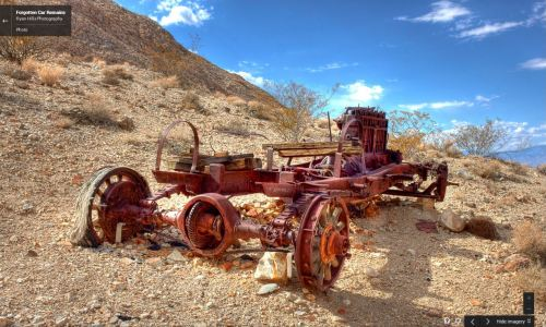 Some vehicles enter Death Valley, never to leave. | image: Ryan Hills Photography,via Google Maps