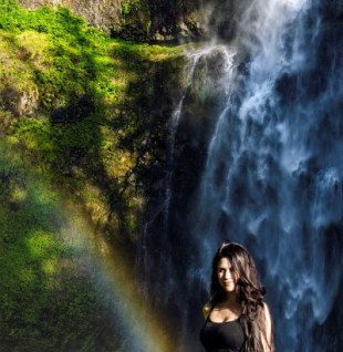Multnomah Falls from the top