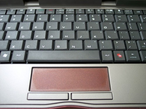 The REDFLY\'s Keyboard & Touchpad