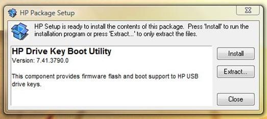 HP Drive Key Utility