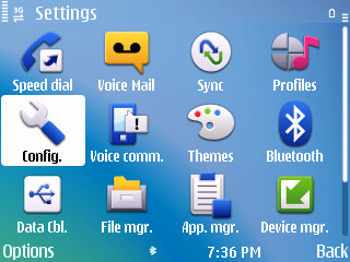 The settings screen...half the icons are redundant, and the other half just lead to more menus!