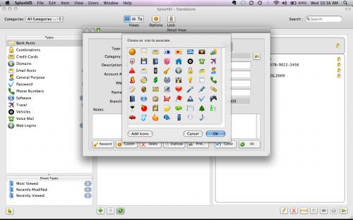 SplashID changing icons 1