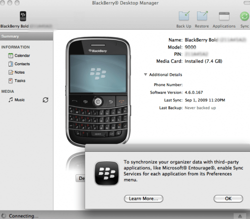 BlackBerry Desktop Manager2