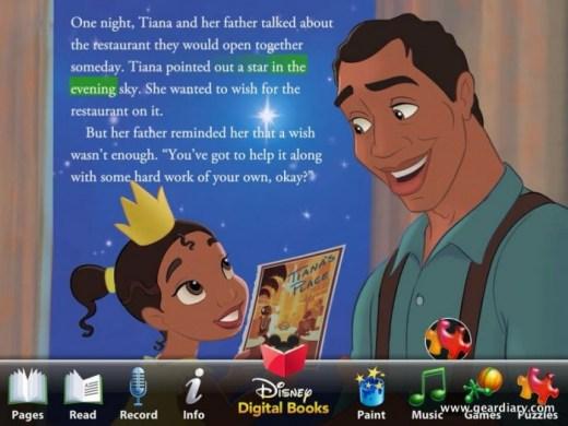 Disney Princess & the Frog Digital iPad Book Review