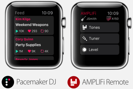 DJ and guitar app for the Apple iWatch