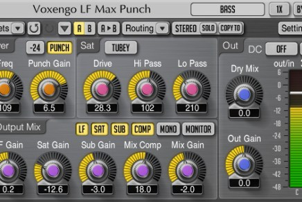 Voxengo updates LF Max Punch plug-in to 1.6