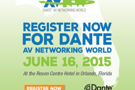 Join Mackie at Dante AV Networking World – InfoComm 2015