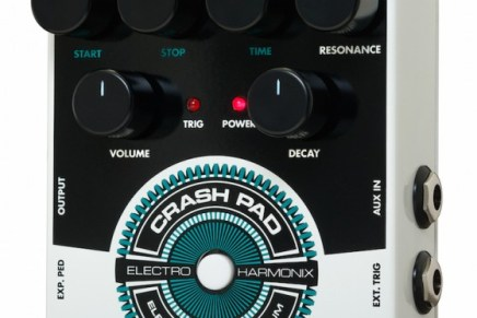 Electro Harmonix Announces Crash Pad Analog Drum Synth.