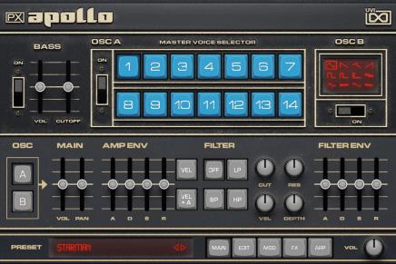 UVI announces Prototype Series instruments PX Apollo