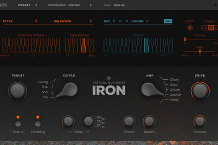 UJAM announces Virtual Guitarist IRON software