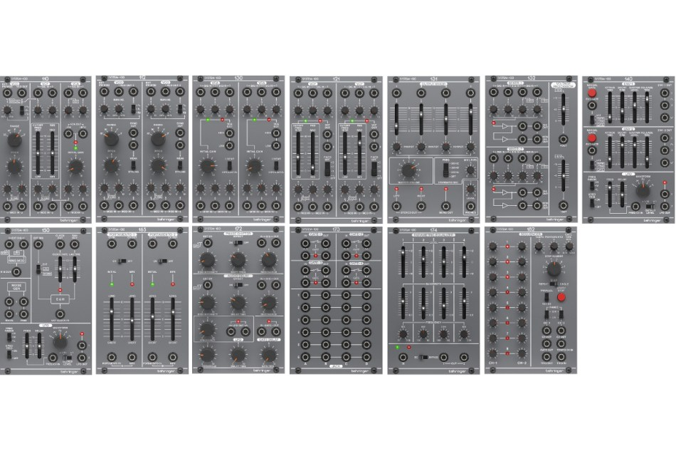 Behringer shows a complete Roland System-100 eurorack system modular concept