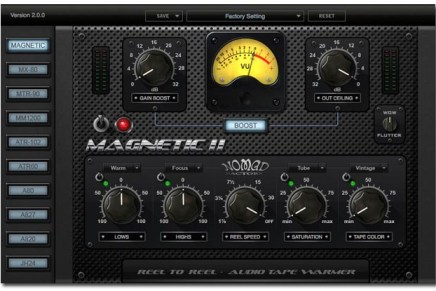 Nomad Factory Releases MAGNETIC II – Audio Tape Warming Plug-In