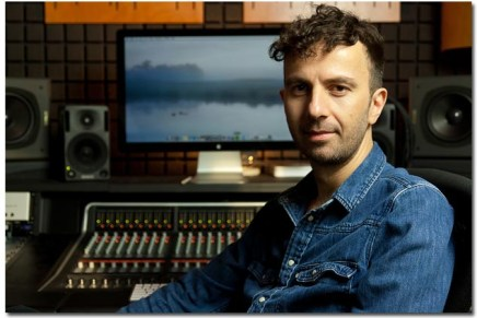 Engineer Kurt Uenala and Dave Gahan install SSL Matrix