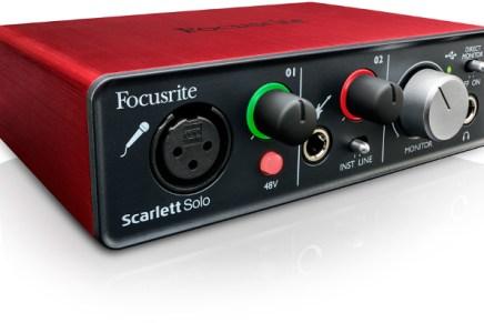 Focusrite announces the Scarlett Solo