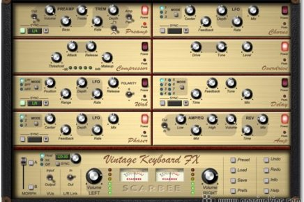 Scarbee updates Vintage Keyboard FX to v.1.2.1.0.