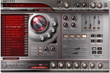 MOTU releases free upgrade for Symphonic Instrument