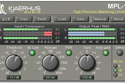 Kjaerhus launches the MPL-1 Mastering Precision Limiter