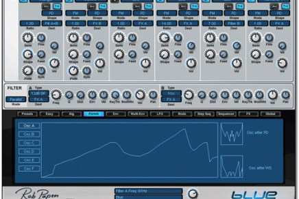 Rob Papen synthesizer BLUE goes RTAS