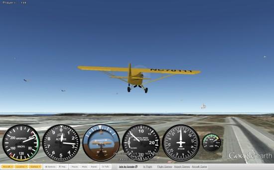 google earth flight sim