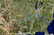 Flight to New Mexico in Google Earth