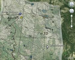 Site of Steve Fossett Crash and remains in Google Earth