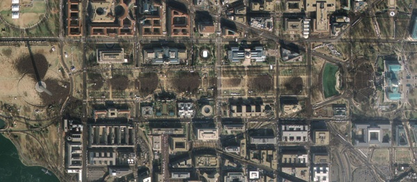 GeoEye satellite image of the Presidential inauguration - January 20, 2009 1119 ET