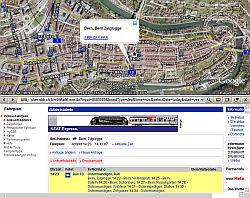 Bern Switzerland in Google Earth