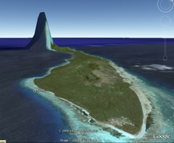 Giant tsunami wave captured in Google Earth