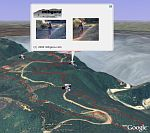 mtbguru GPS mountain bike trail in Google Earth