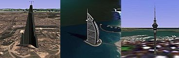 Architectural Delights in Google Earth