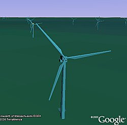 Cape Wind Project in Google Earth