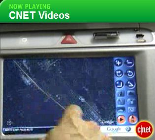 CNET Video of Google Earth for car navigation in VW
