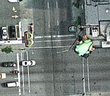 Giant Frog in Chicago in Google Earth