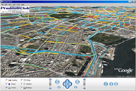 Honda Traffic Watch System in Google Earth