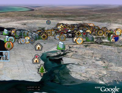 Karachi Pakistan in Google Earth