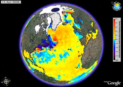 NOAA Coral Reef Data in Google Earth