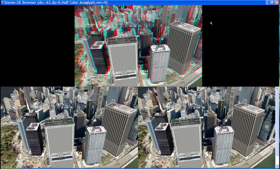 Stereo3D maker for Google Earth