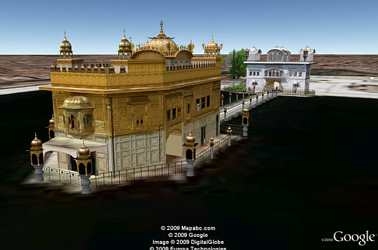 Golden Temple in 3D in Google Earth