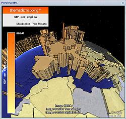 TME plugin GDP in Google Earth