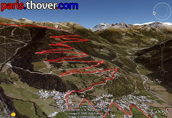 Le Tour de France in Google Earth