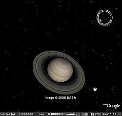 Saturn in Google Earth