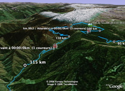 Improve live tracking for Tour de France in Google Earth