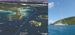 Navigating in the Caribbean with Google Earth