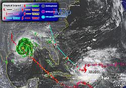 Track Hurricane Gustav in Google Earth
