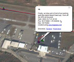 Magnalox GPS Tracks in Google Earth