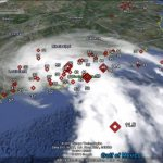 Tracking hurricane wind speeds in Google Earth