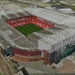 Old Trafford Stadium in Google Earth