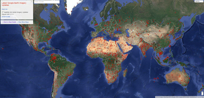 Google Earth Imagery Update August 26th, 2014