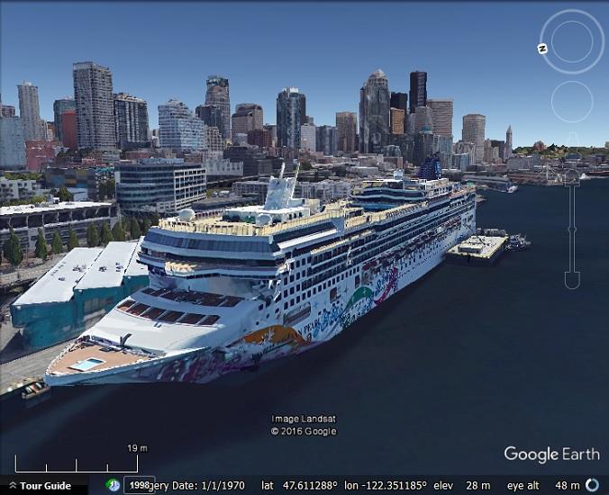 Cruise Ships My Google Map Blog - Cruise ship google earth